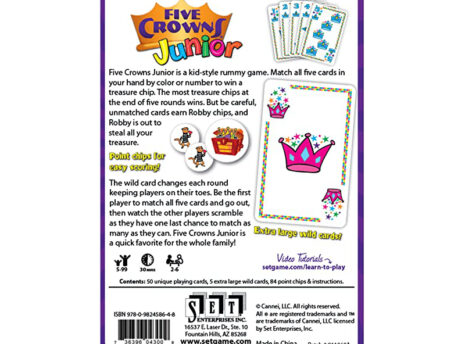 Five Crowns Junior: Card Game for Kids
