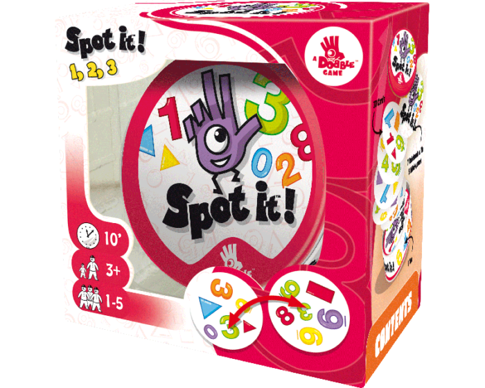 Spot It! 123: Card Game for Kids