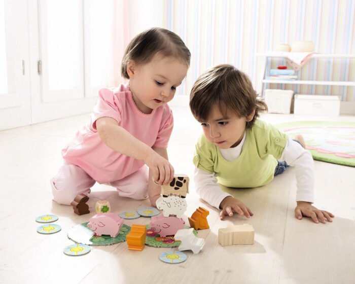 First Animal Upon Animal: Board Game for Toddlers